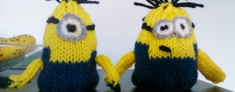 Knitted Minions by Nia Griffiths Hair, Cardiff